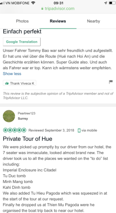 Hue private car review