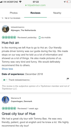 Hue to Hoi An review